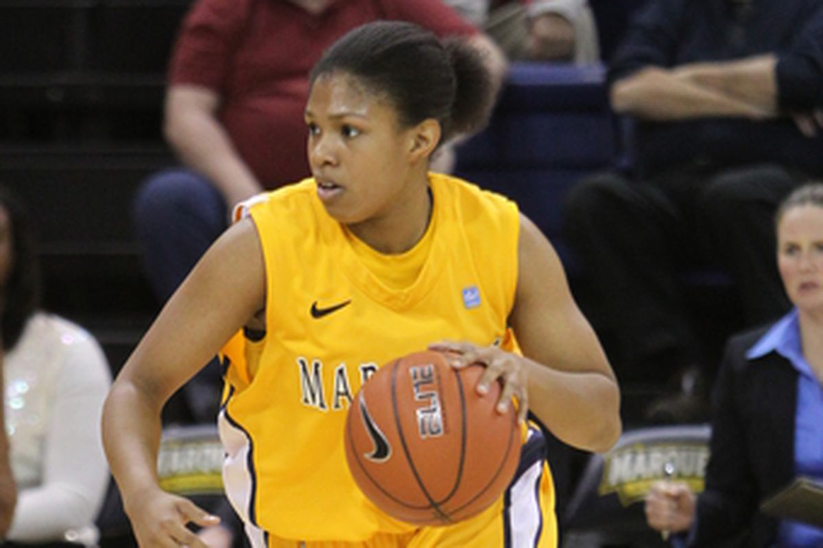 With Marquette up big against Tennessee Tech, Arlesia Morse provided pop off the bench to allow MU to rest for the next day's game against Utah.