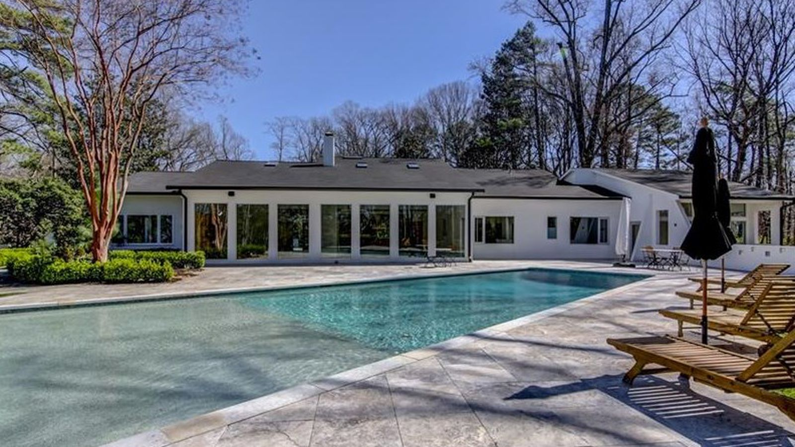 1970s buckhead contemporary with infinity pool strives for for Pool design 1970