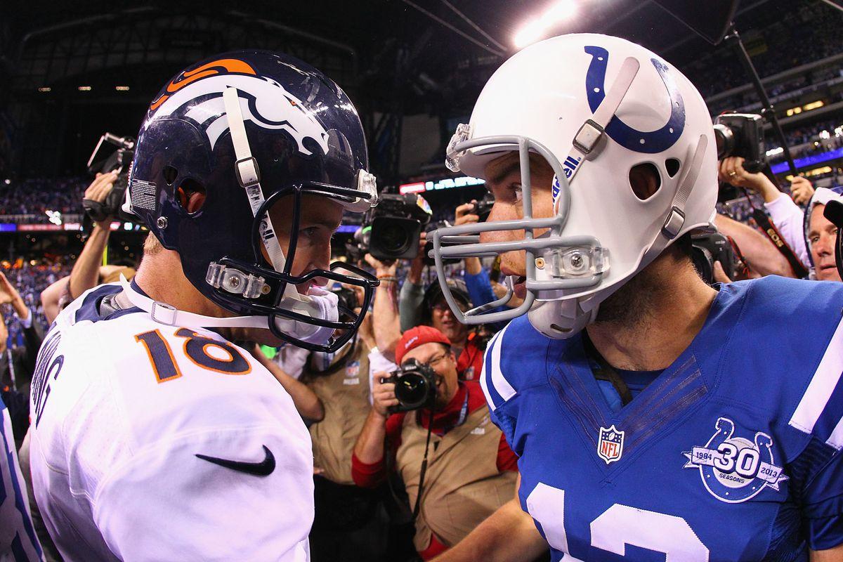 """""""Next year, you're playing on my turf."""" - Peyton Manning."""