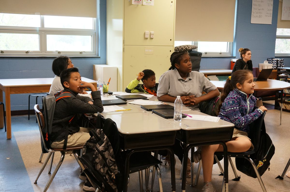 About half the students in Abby Campbell's fourth-grade class are learning English.