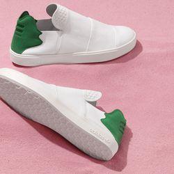 The Elastic Slip On sneakers in white.