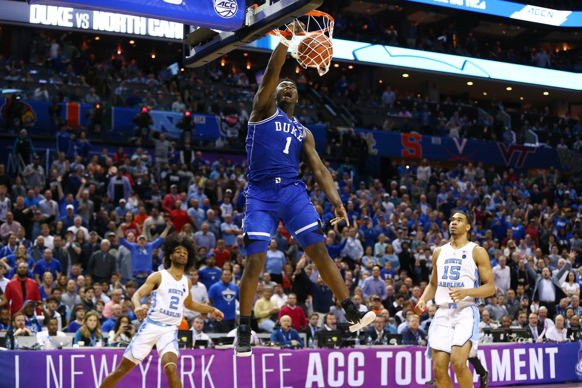 March Madness 2019 Zion Williamson Throws Down Multiple: Zion Williamson Proved He's Not Human Vs. North Carolina