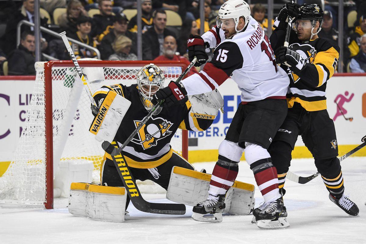 NHL: DEC 06 Coyotes at Penguins