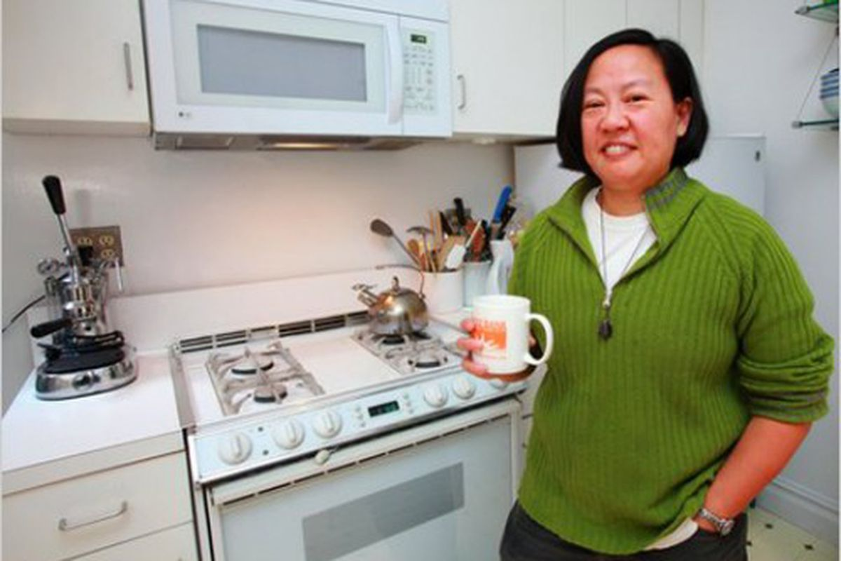 """<b>Anita Lo</b>: Anita Lo's kitchen isn't huge or anything, but you've got to admit: it's nicer than the one in your apartment, right? Perhaps Anita applied <a href=""""http://online.wsj.com/article/SB10001424052748703876404575200250985891926.html"""" rel"""