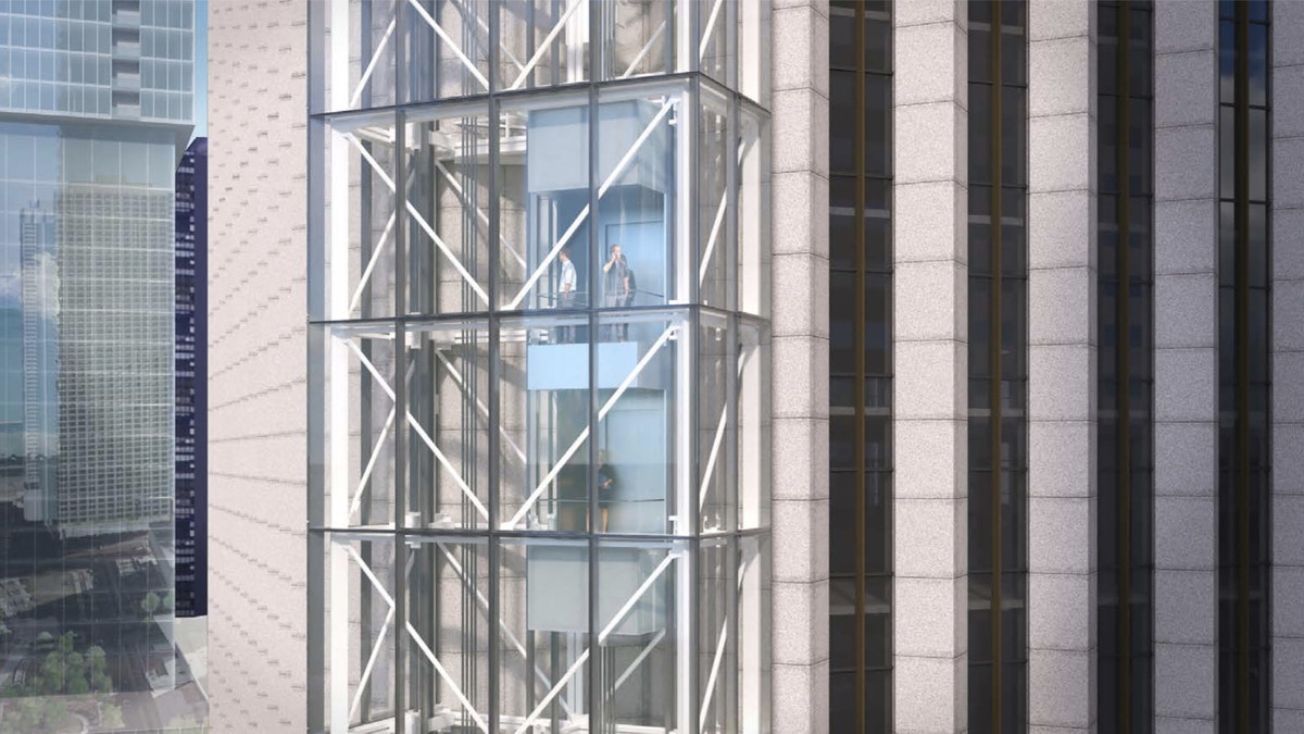 Aon Center Observatory Plan Glass Elevators And A Rooftop