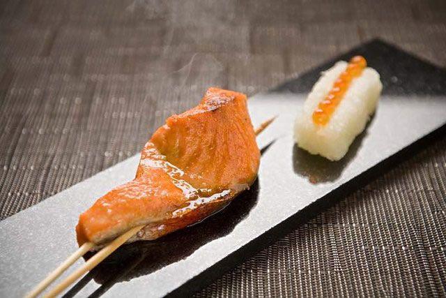 Salmon with Ikura Oroshi at Raku