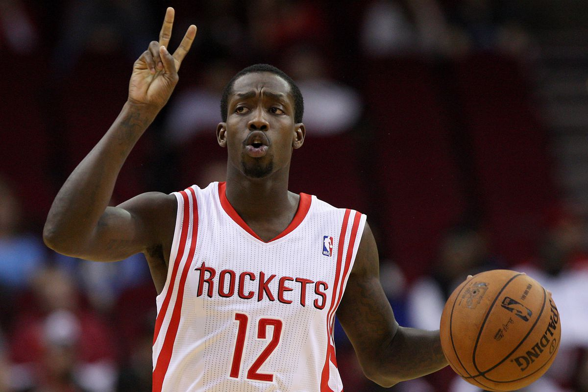 Beverley brings the ball up the court against the Nuggest