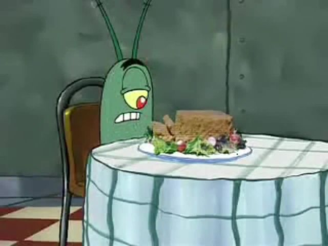 Plankton and holographic meatloaf