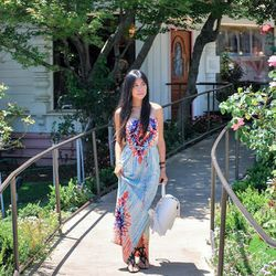 """""""I wore a <a href=""""http://www.modcloth.com/"""">ModCloth</a> breezy maxi dress to visit <a href=""""http://www.sbrm.org/"""">The Santa Barbara Rescue Mission</a> and <a href=""""http://www.bethelhousei.org/"""">The Bethel House</a>. Both charities provide shelter and ot"""