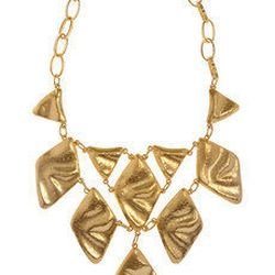 """<a href=""""http://www.net-a-porter.com/product/194518"""">Kenneth Jay Lane 22-karat gold-plated oversized necklace</a> $150 (was $300)"""