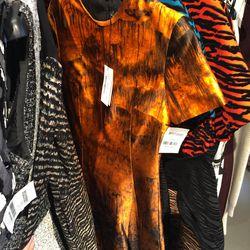 Printed satin dress, $428 (was $2,850)