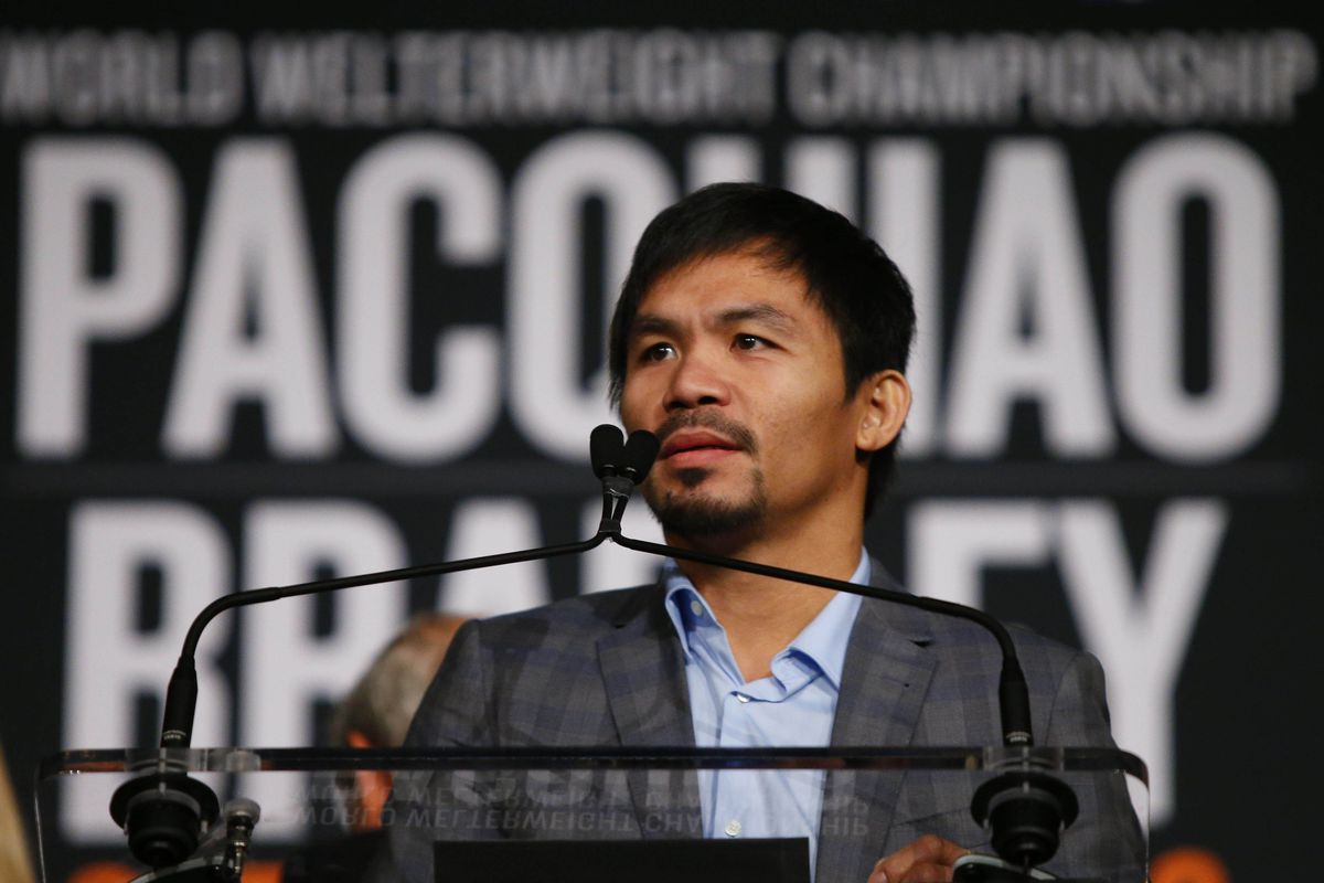 Manny Pacquiao will discuss his upcoming fight at the Pacquiao vs. Bradley 3 press conference.