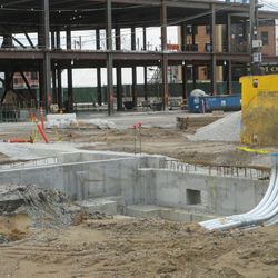 12:08 p.m. Another view of the possible building foundation, in the broadcast lot -