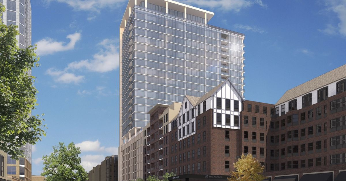 high rise proposal for downtown evanston could go condo curbed chicago. Black Bedroom Furniture Sets. Home Design Ideas