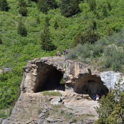 The Wind Caves are located about six miles up Logan Canyon.