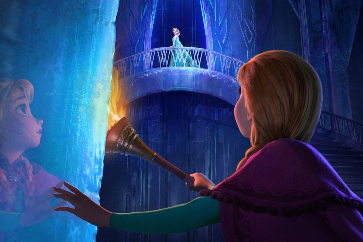 A still from the Disney movie Frozen