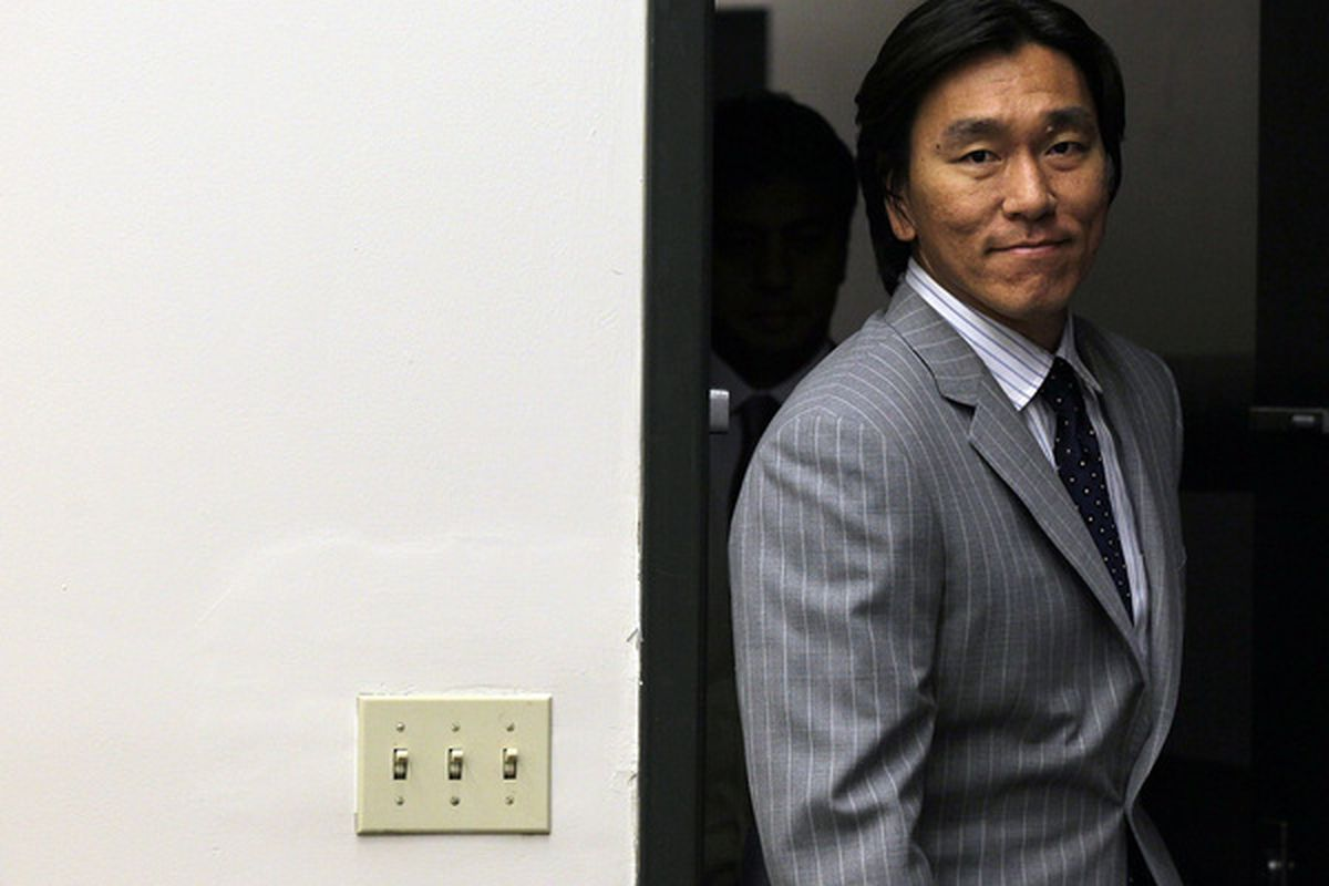 The lights are still on because Hideki Matsui is not a switch hitter.