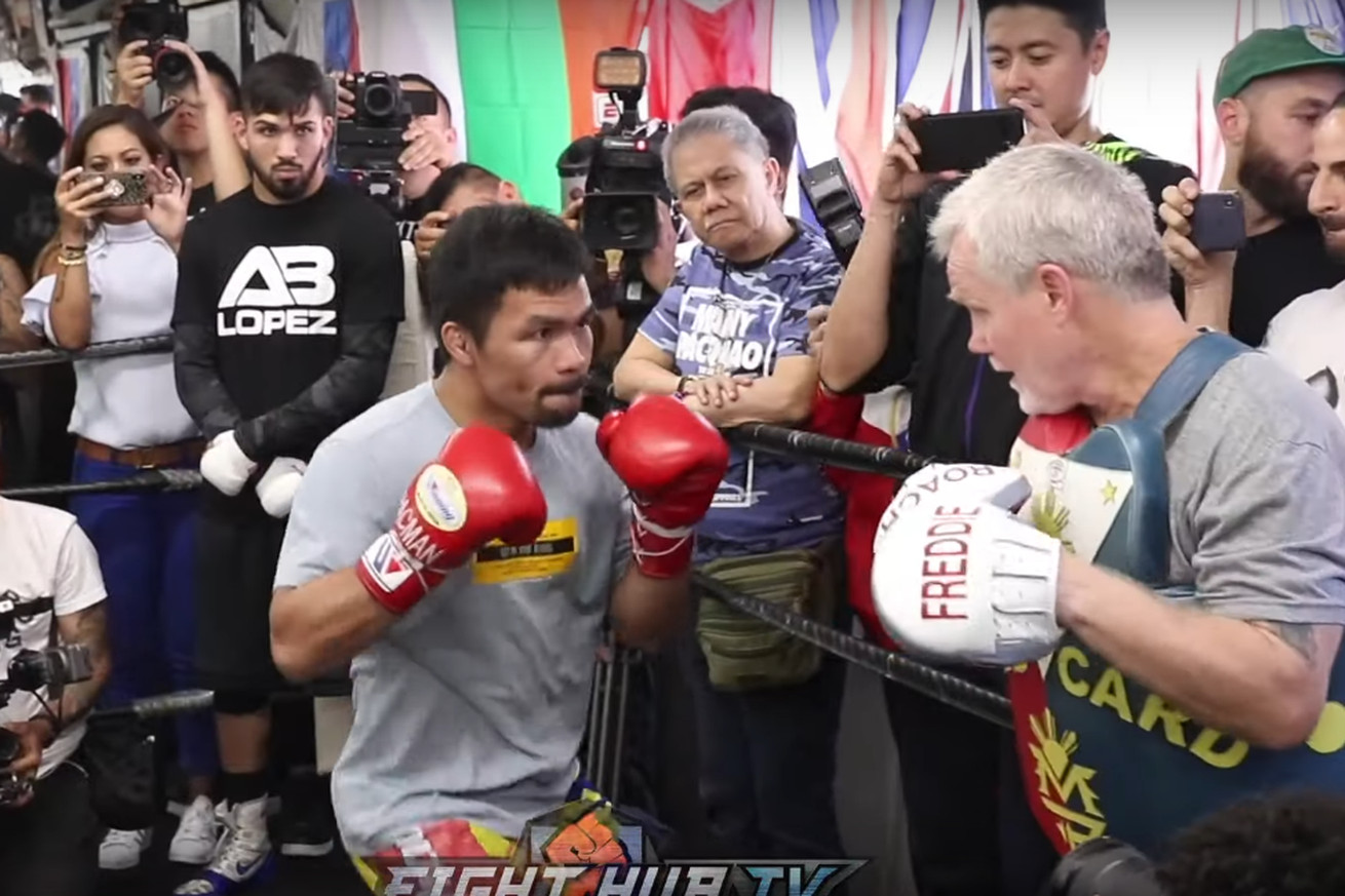 Screen Shot 2019 07 10 at 10.51.54 PM.0 - Pacquiao-Thurman: Manny Pacquiao's Media Workout