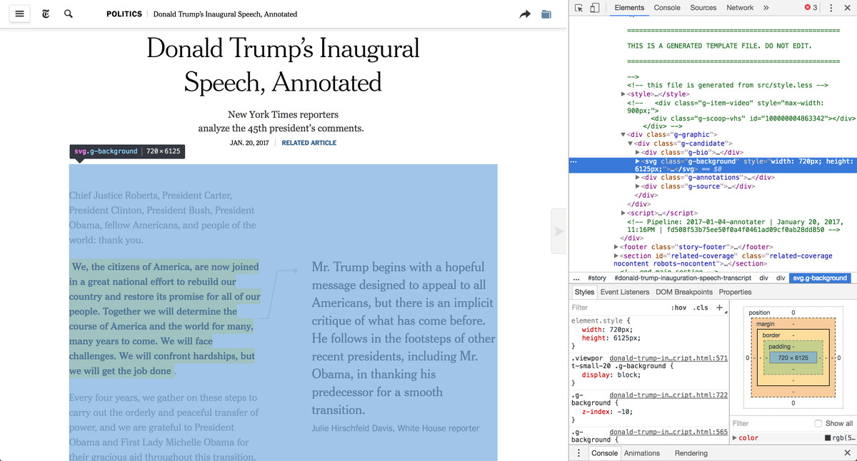 Screenshot of NYT piece placing svg behind the content it is annotating.