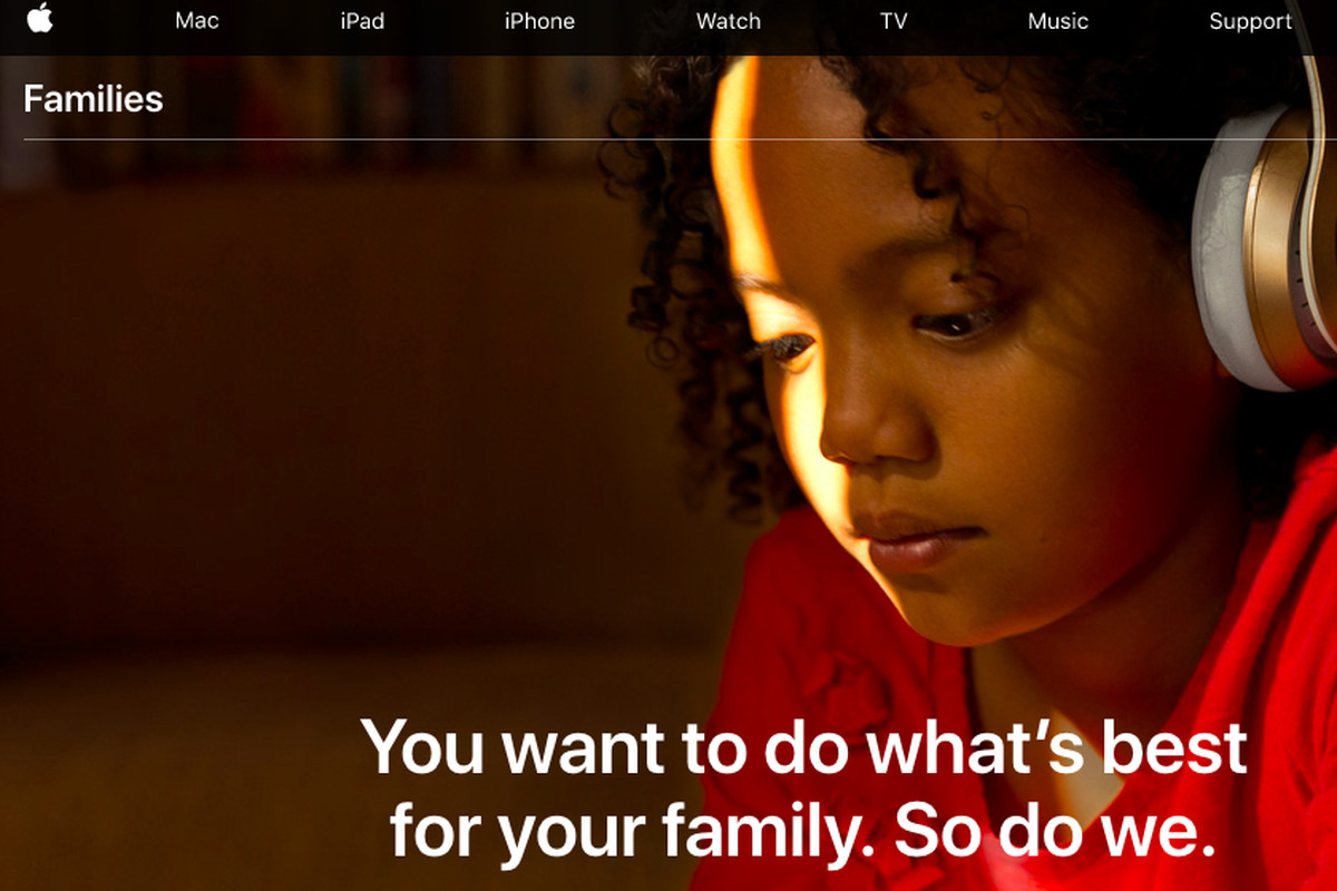Apple introduces new 'Families' page where it shows off parental features