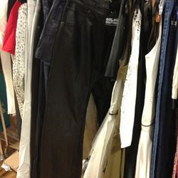 Chloe Sevigny/Opening Ceremony leather jeans, $300