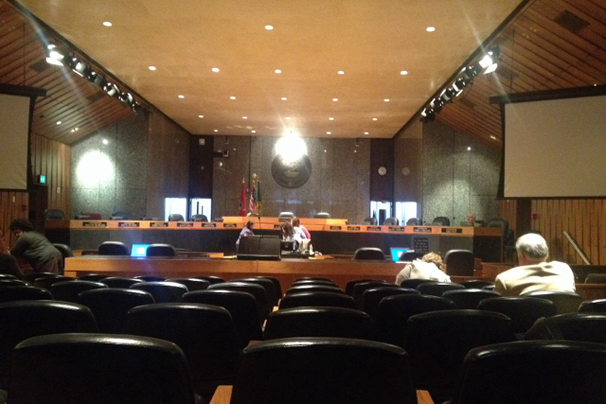 The Shelby County Commission chambers is the site of budget hearings for local school districts.
