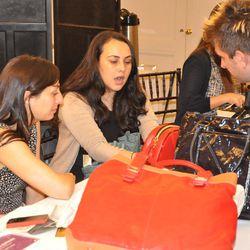 Nicholas D'Aurizio as he receives feedback on his handbags