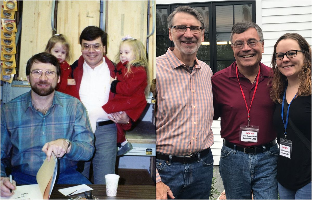 """<p><span style=""""font-size:18px""""><strong>What a Throwback</strong></span></p> <p>Insider Tom Chrzanowski of Catonsville, MD and his daughter met with Normin 1991 when Maria was just two years old. Tom brought his daughter again hoping for a potential reunion with Norm 28 years later. They were able to recapture their special memory once again. Crew members from TOH TV spent some time interviewing them on the back deck near the vertical fireplace.</p>"""