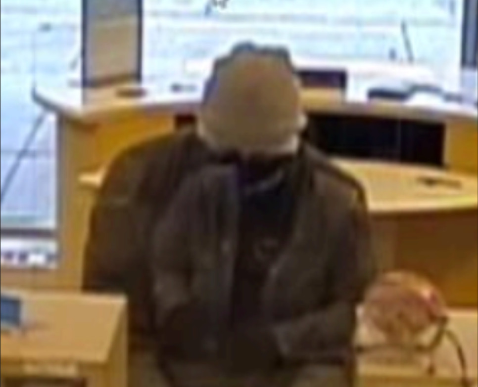 The FBI says this person is wanted for robbing a BMO Harris Bank branch in Riverside March 17, 2021.