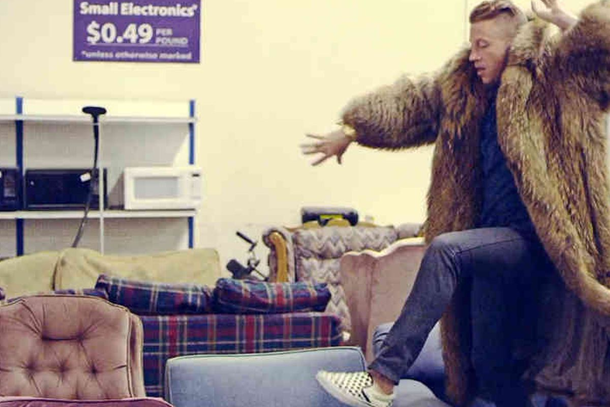 """Oh, Macklemore, your name is almost as ridiculous as <a href=""""http://www.youtube.com/watch?v=QK8mJJJvaes"""">your coat</a>"""