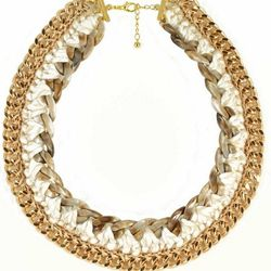 """Gold Beni Necklace by Andrea Bocchio Jewelry, <a href=""""http://www.brika.com/gold-beni-necklace"""">$98</a>"""