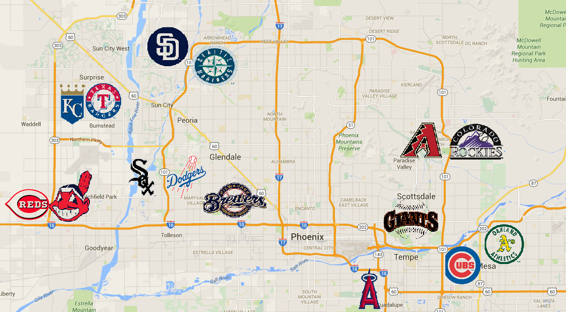 Map Of Arizona Only.A Visitor S Guide To 2019 Arizona Spring Training Bleed Cubbie Blue