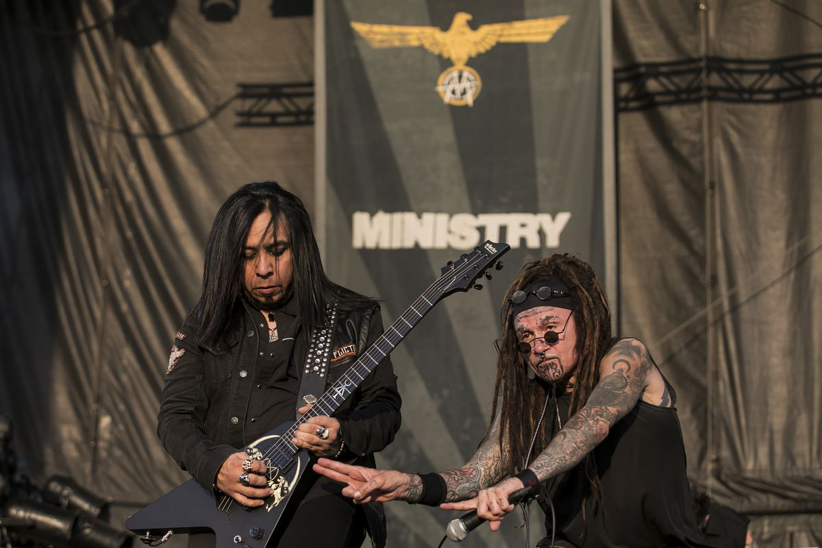 Ministry performs on day one of Riot Fest in Douglas Park. | Ashlee Rezin/Sun-Times