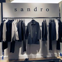"""The men's department, featuring Sandro—which is opening <a href=""""http://la.racked.com/archives/2013/10/04/voila_construction_begins_on_sandro_the_kooples.php"""">soon</a> on N Beverly Drive!"""