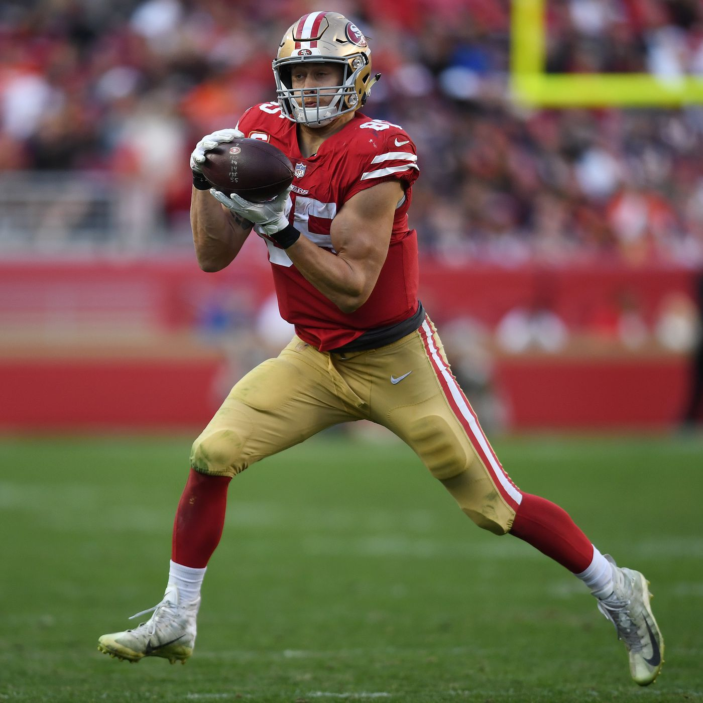 284e5db6596 49ers news  George Kittle will be working on routes in the 2019 ...