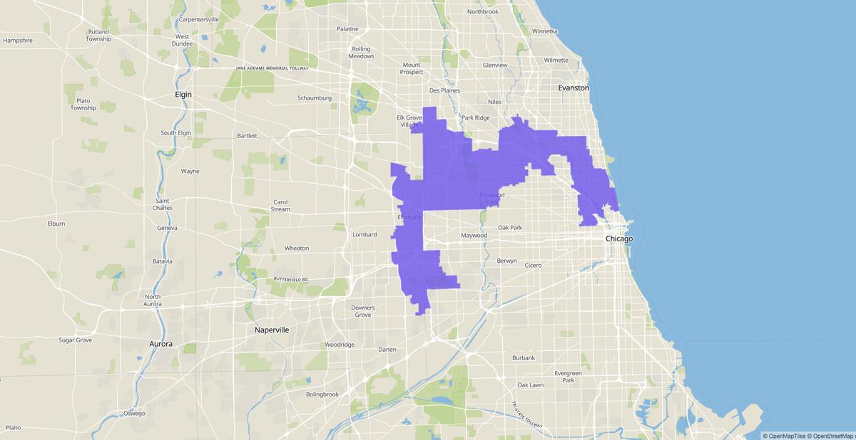 Endorsement, 5th Congressional District map, U.S. House, Illinois