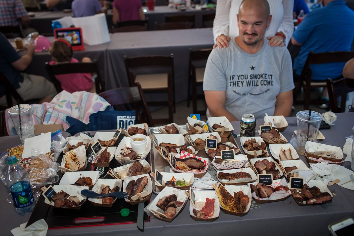 Hoarding barbecue at the Texas Monthly BBQ Fest