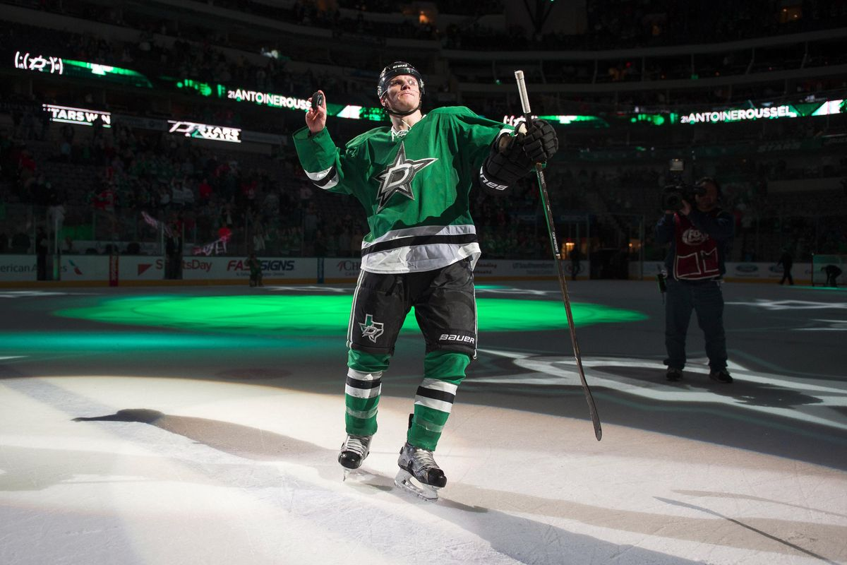 Antoine Roussel collects 2nd Star of the Game honors after a home win against - wait for it! - Chicago.