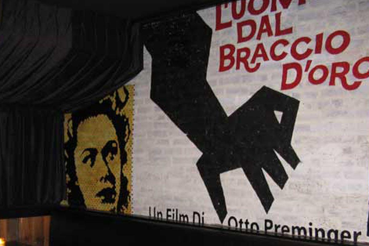 Film Noir mural at Three Aces