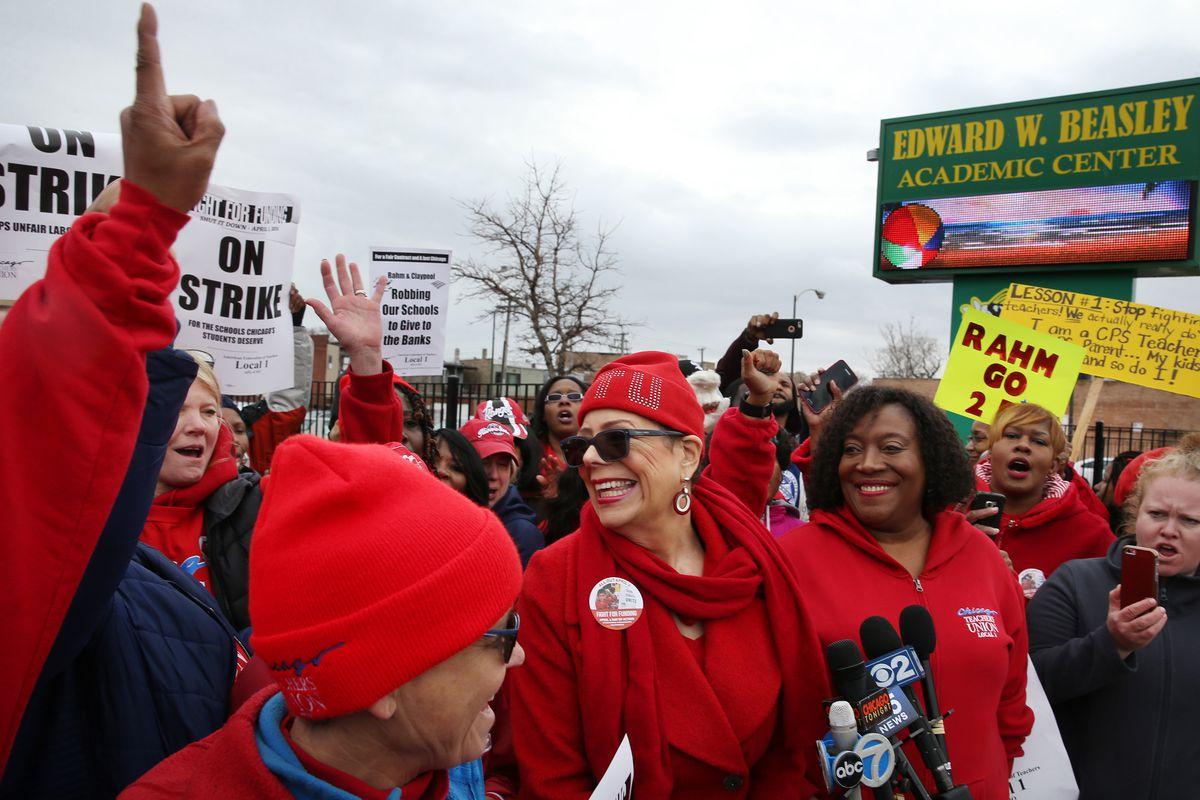 Chicago Teachers Union President Karen Lewis in 2016