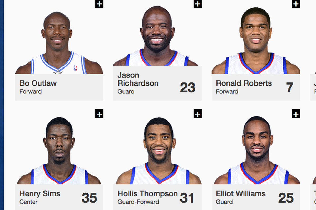 Even The Sixers Website Doesn T Know Who S On The Sixers Sbnation Com