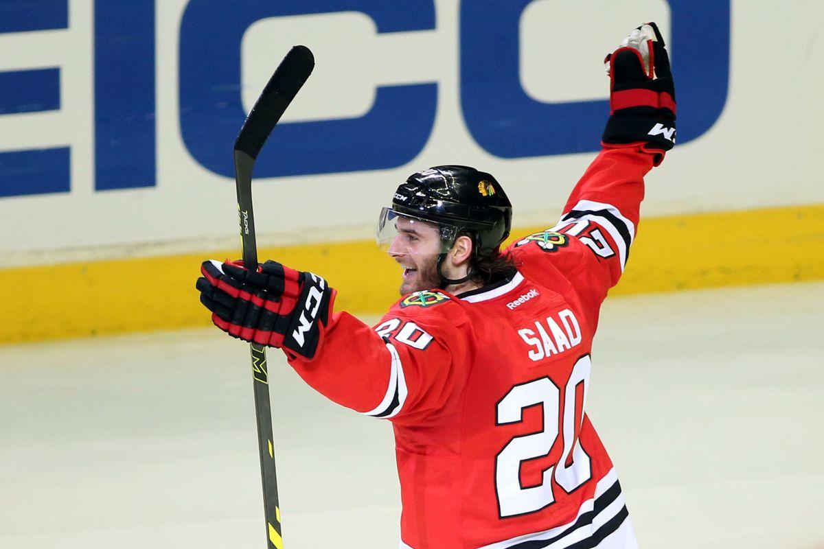 Image result for Blackhawks, Saad