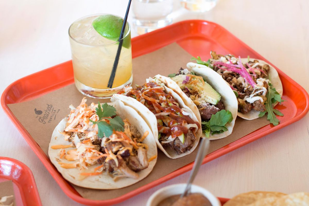 Peached Tortilla's lunch tacos