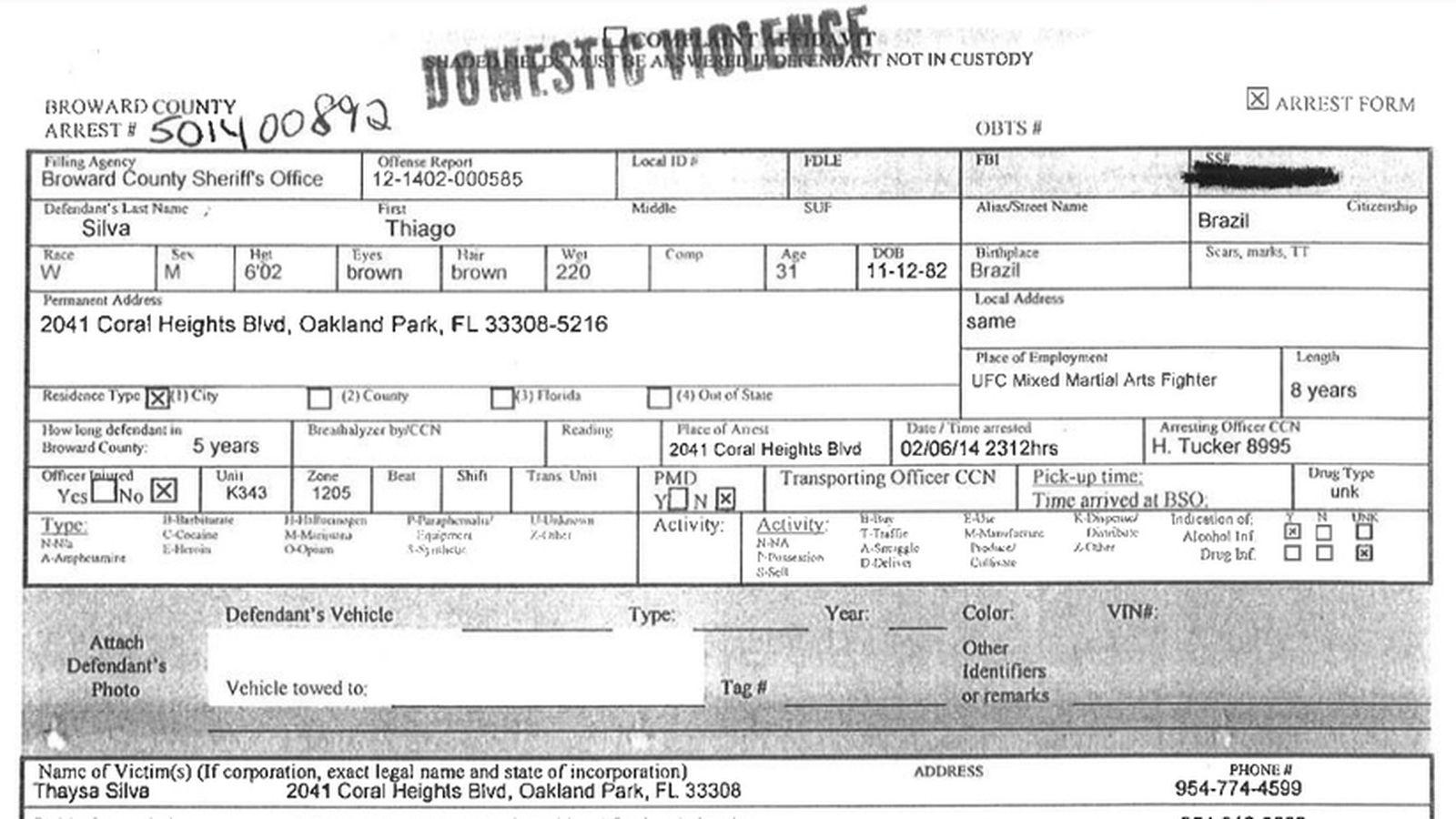Thiago Silva Original Police Report Highlights Infidelity