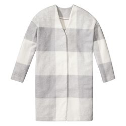 Mohair Coat in Grey/White Plaid, $69.99, (XS-XXL, 1X-3X*) *Target.com Only
