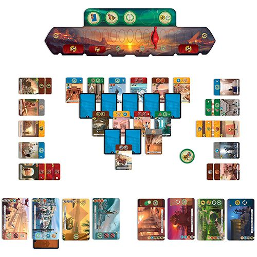 Components of the 7 Wonders gameplay