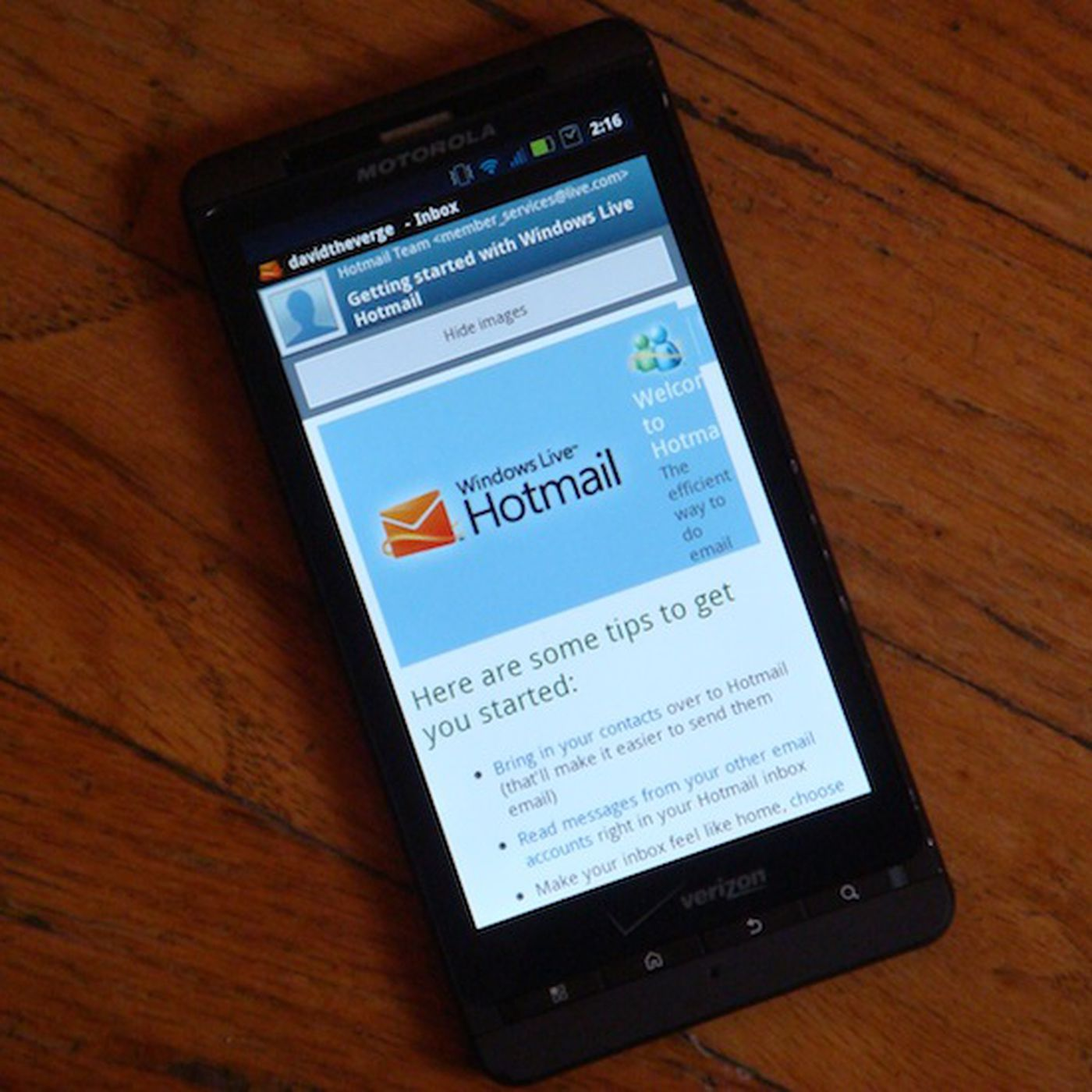 Live hotmail mobile Free download