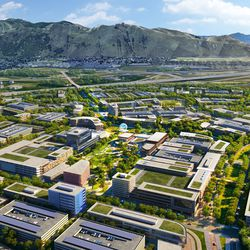 The Point of the Mountain State Land Authority has released new renderings of what the southern Salt Lake County development might look like, including this rendering of a mixed-use hub.