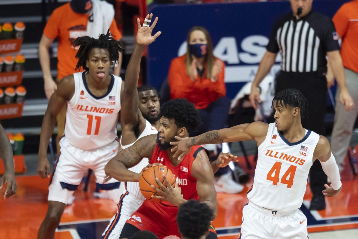 NCAA Basketball: Maryland at Illinois