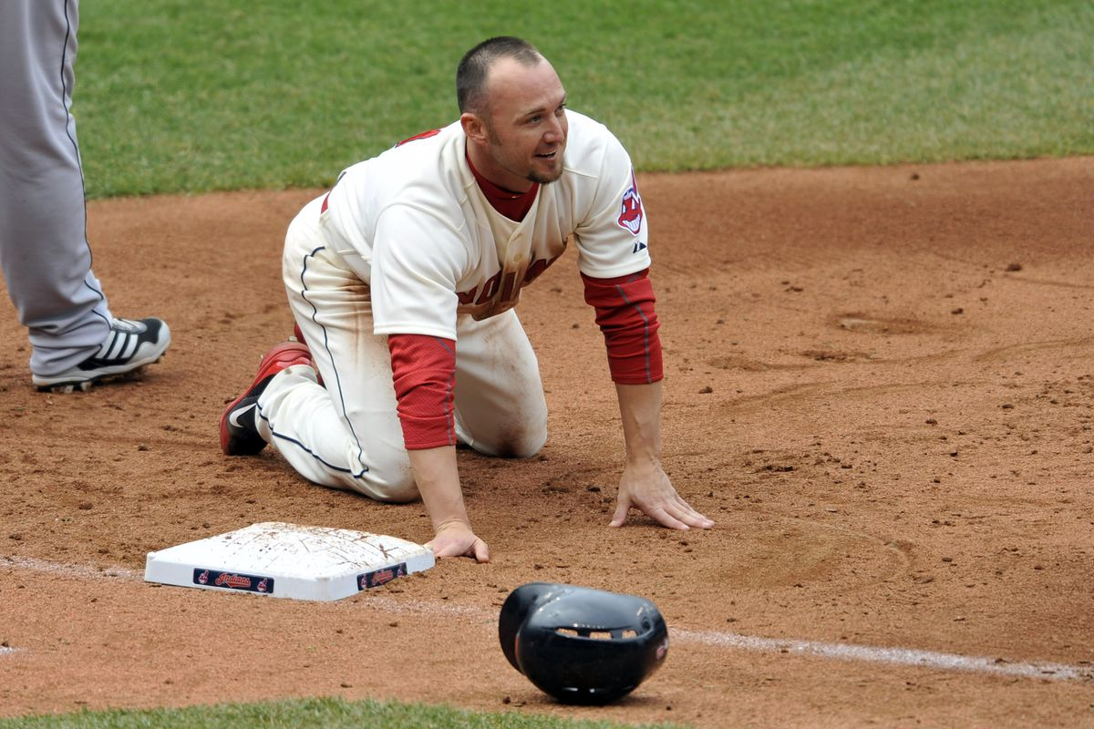 Ryan Raburn, after getting picked off first.